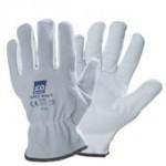 guanti pelle fiore crosta